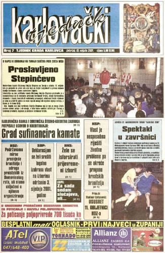 Karlovački tjednik: 2001 • 7