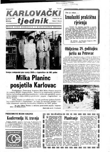 Karlovački tjednik: 1981 • 14