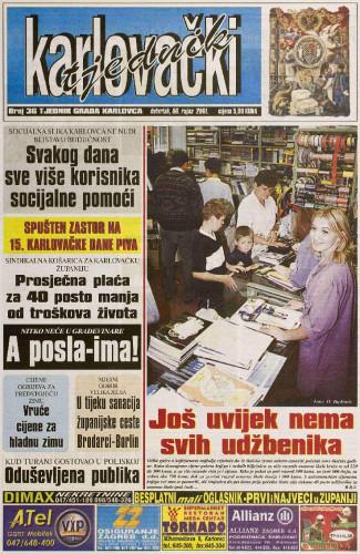Karlovački tjednik: 2001 • 36