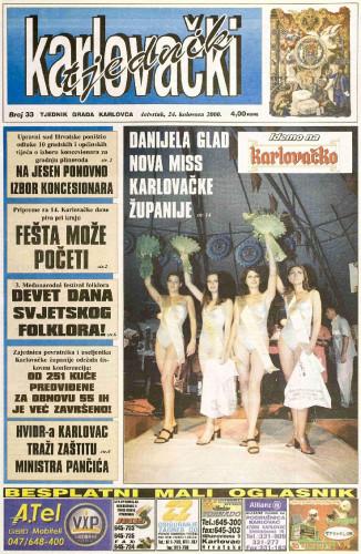 Karlovački tjednik: 2000 • 33