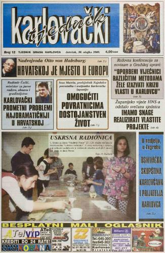 Karlovački tjednik: 2000 • 12