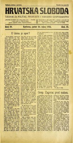 Hrvatska sloboda: 1924. • 39