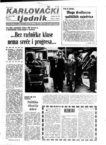 Karlovački tjednik: 1981 • 6