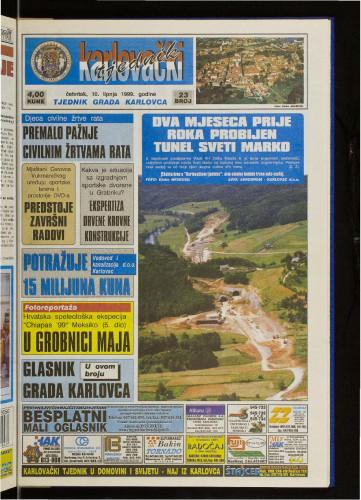 Karlovački tjednik: 1999 • 23
