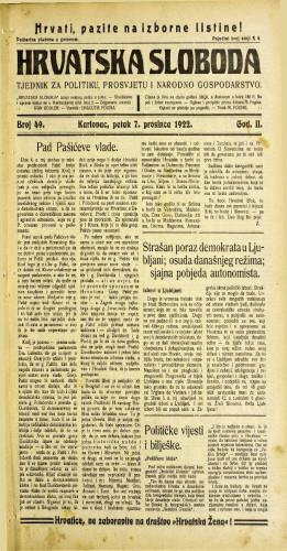Hrvatska sloboda: 1922 • 49