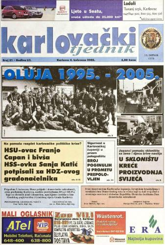Karlovački tjednik: 2005 • 31