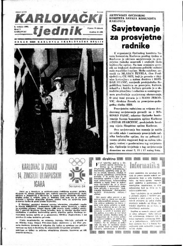 Karlovački tjednik: 1984 • 5