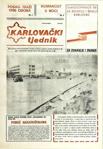 Karlovački tjednik: 1989 • 42