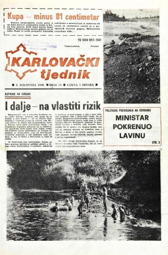 Karlovački tjednik: 1990 • 33