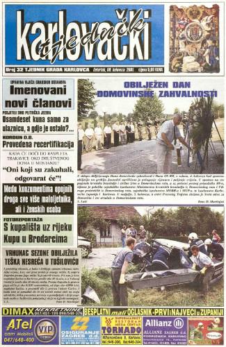 Karlovački tjednik: 2001 • 32