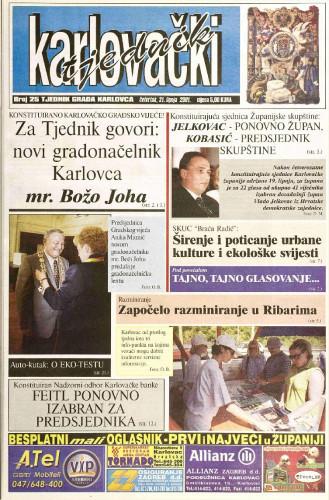 Karlovački tjednik: 2001 • 25
