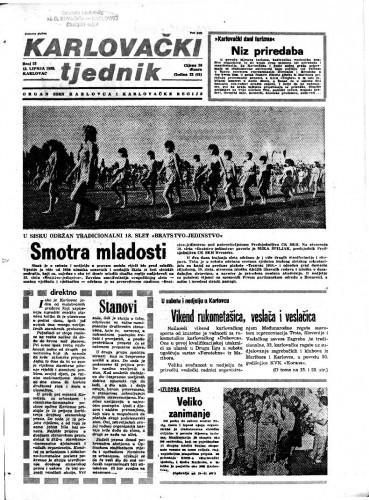 Karlovački tjednik: 1985 • 23