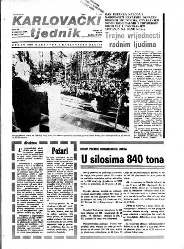 Karlovački tjednik: 1985 • 30