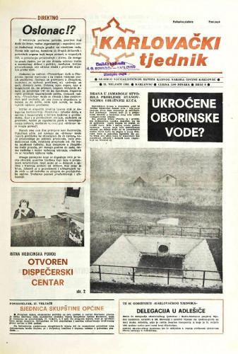 Karlovački tjednik: 1989 • 8