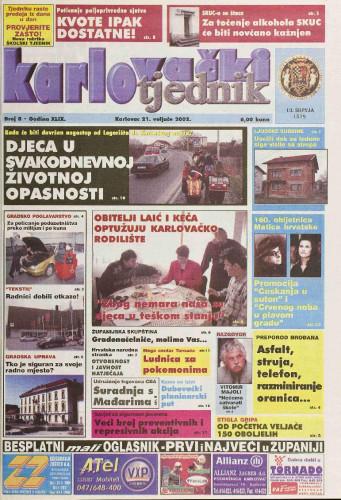 Karlovački tjednik: 2002 • 8