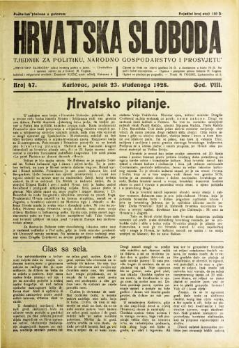Hrvatska sloboda: 1928. • 47