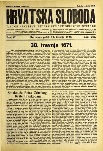 Hrvatska sloboda: 1928. • 17