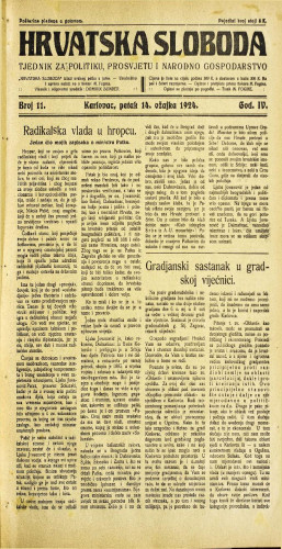 Hrvatska sloboda: 1924. • 11