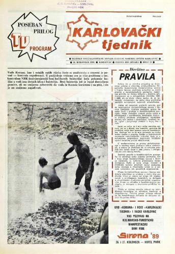 Karlovački tjednik: 1989 • 34