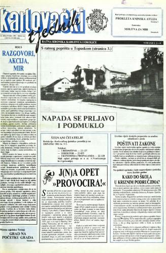 Karlovački tjednik: 1991 • 34