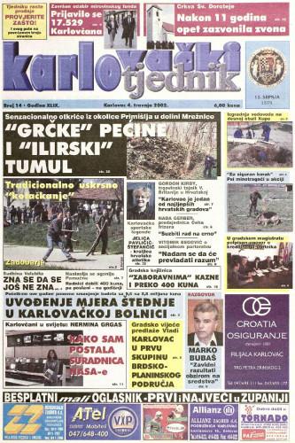 Karlovački tjednik: 2002 • 14