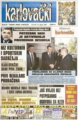Karlovački tjednik: 2000 • 25