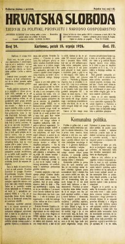 Hrvatska sloboda: 1924. • 29