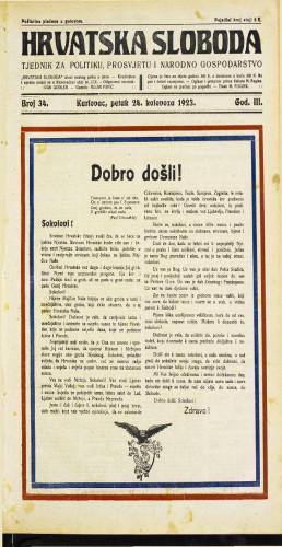 Hrvatska sloboda: 1923 • 34