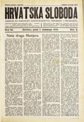Hrvatska sloboda: 1930. • 44