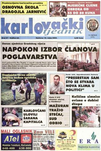 Karlovački tjednik: 2005 • 37