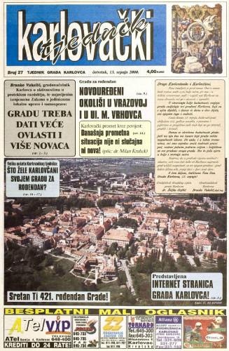 Karlovački tjednik: 2000 • 27