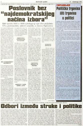 Karlovački tjednik: 2001 • 46