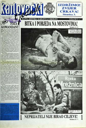 Karlovački tjednik: 1991 • 39