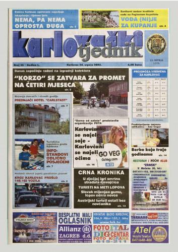 Karlovački tjednik: 2003 • 30
