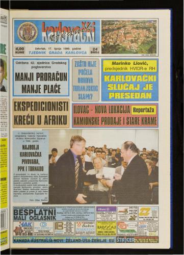 Karlovački tjednik: 1999 • 24