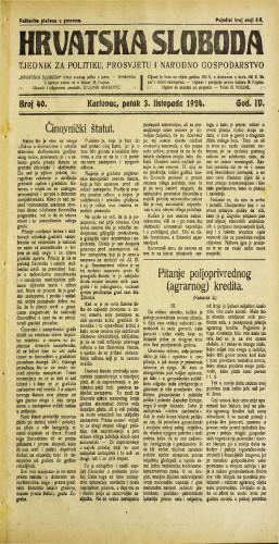 Hrvatska sloboda: 1924. • 40