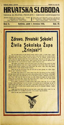 Hrvatska sloboda: 1924. • 31