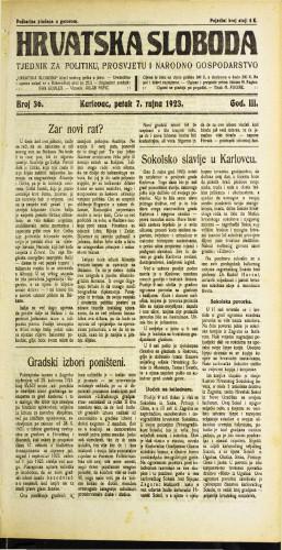 Hrvatska sloboda: 1923 • 36
