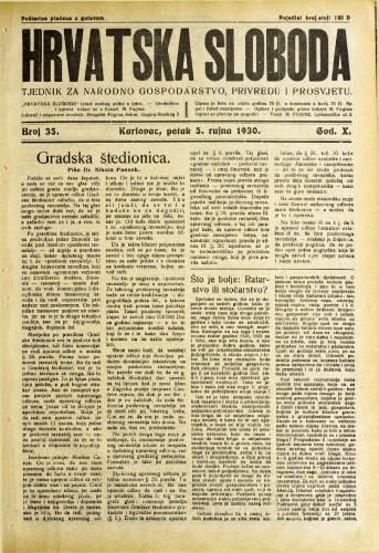 Hrvatska sloboda: 1930. • 35