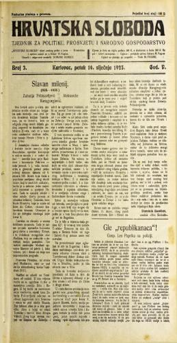 Hrvatska sloboda: 1925. • 3