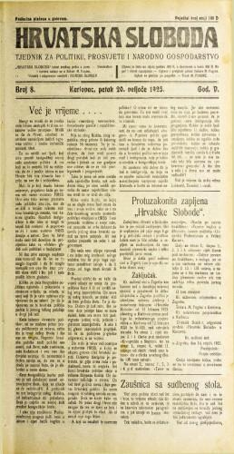 Hrvatska sloboda: 1925. • 8