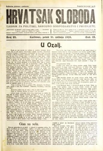 Hrvatska sloboda: 1929. • 22
