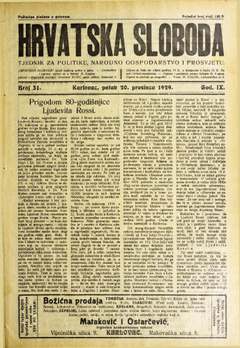 Hrvatska sloboda: 1929. • 51