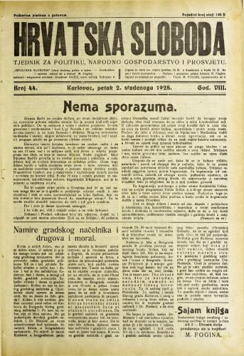 Hrvatska sloboda: 1928. • 44