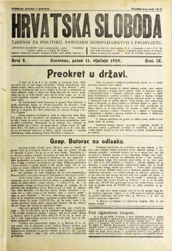 Hrvatska sloboda: 1929. • 2