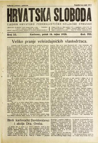 Hrvatska sloboda: 1928. • 37