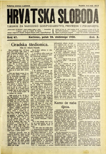 Hrvatska sloboda: 1930. • 47