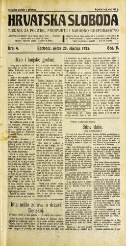 Hrvatska sloboda: 1925. • 4