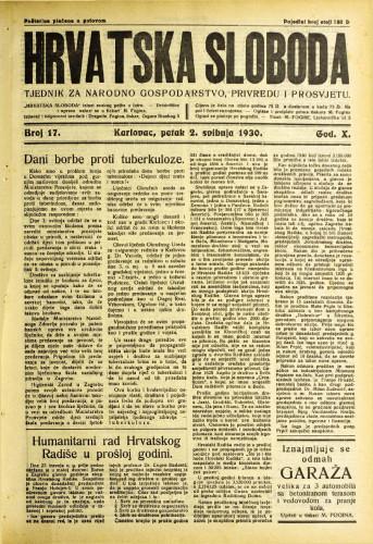 Hrvatska sloboda: 1930. • 17