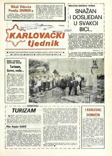Karlovački tjednik: 1989 • 27
